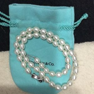 Tiffany & Co pearl and silver necklace